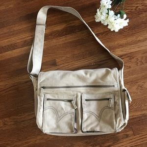 Levi's Tan Satchel Crossbody Messenger Bag Tan